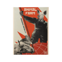 Farm animal wood poster