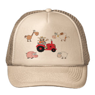 Farm animals and Tractor Trucker Hats