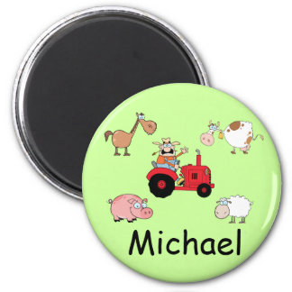 Farm animals and Tractor Magnet