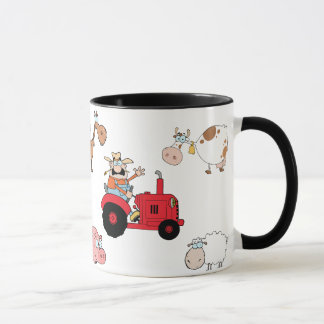 Farm animals and Tractor Mug