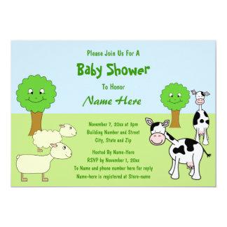 Farm Animals Baby Shower Card