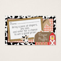 Farm Animals Baby Shower Diaper Raffle Ticket