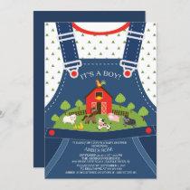 Farm Animals Baby Shower Invitation