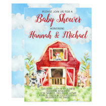 Farm Animals Baby Shower Invitation Invite, Barn