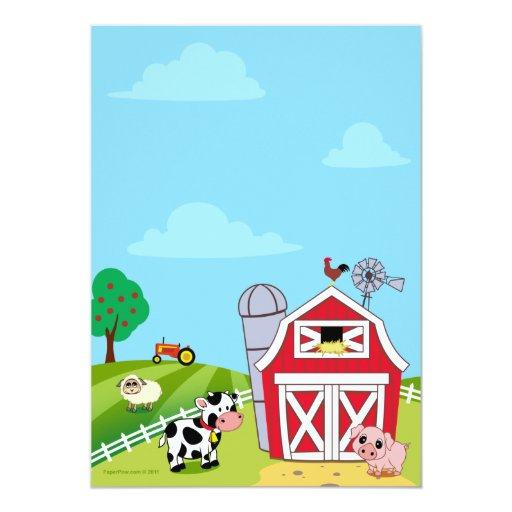 Farm Animals Baby Shower Invitations   Zazzle