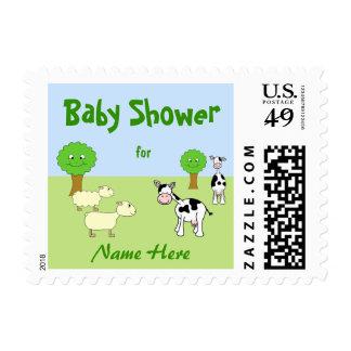 Farm Animals Baby Shower Postage
