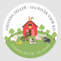 Farm Animals Baby Shower Return Address Label