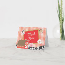 Farm Animals Baby Shower Thank You Cards