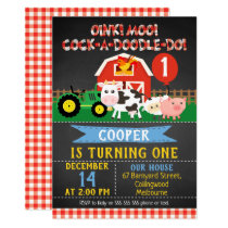 Farm Animals Barnyard Bash Birthday Invitation