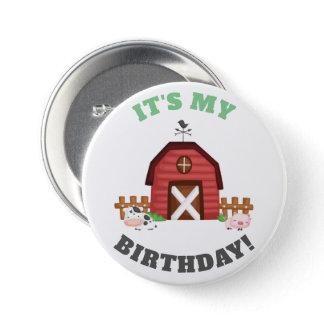 Farm Animals Barnyard Birthday Boy/Girl - GLS Button