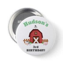 Farm Animals Barnyard Birthday Party - GLS Button