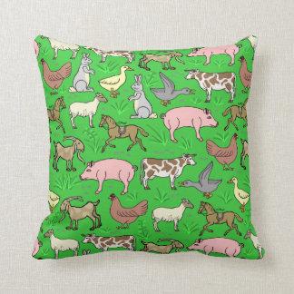 Farm Animal Throw Pillows : Barnyard Animal Pillows - Decorative & Throw Pillows Zazzle