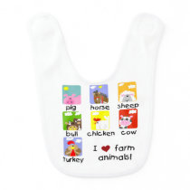 Farm Animals Bib