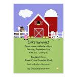Farm Animals Birthday Invitation