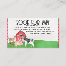 Farm animals books for baby baby shower insert
