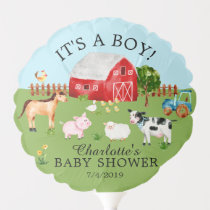 Farm Animals Boy Baby Shower Balloon