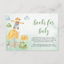 Farm animals boy Baby Shower book request Enclosure Card