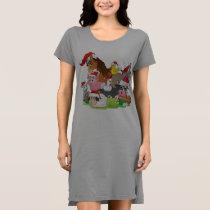 Farm Animals Christmas Sleepshirt Dress