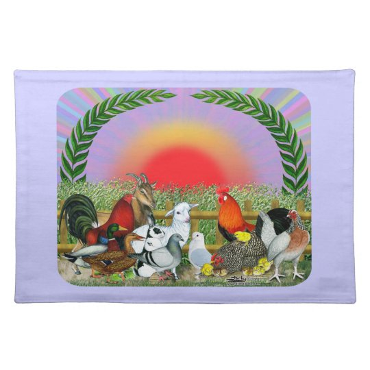 Farm Animals Cloth Placemat