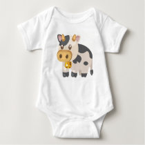 Farm Animals-Cow Baby Bodysuit