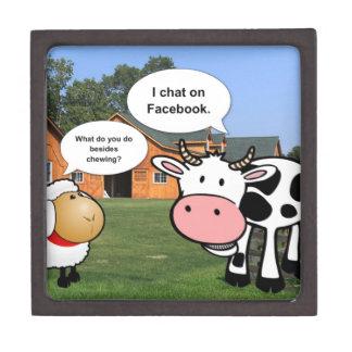 Farm animals cute cartoon funny facebook chat gift box
