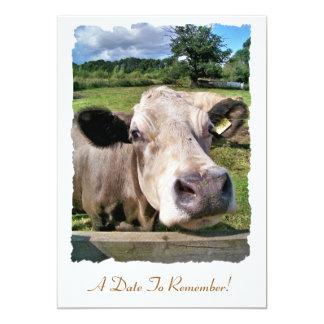 FARM ANIMALS, CUTE COW CUSTOM INVITATIONS