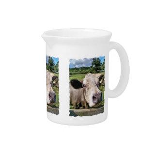 FARM ANIMALS, CUTE COW PITCHER