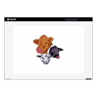 """Farm Animals Decals For 15"""" Laptops"""