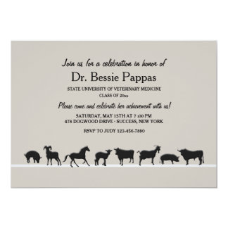 Farm Animals Dr. of Veterinary Medicine Graduation Card