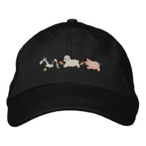 Farm Animals Embroidered Baseball Hat