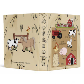 Farm Animals Fun Notebook Binder