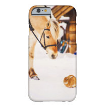 Farm animals horse and rabbit barely there iPhone 6 case