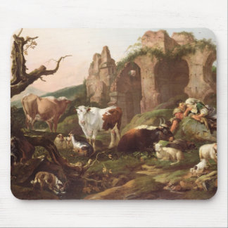 Farm animals in a landscape, 1685 mouse pad
