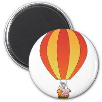 Farm Animals in Balloon Magnet