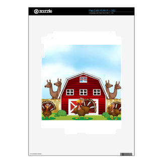 Farm animals iPad 2 decals