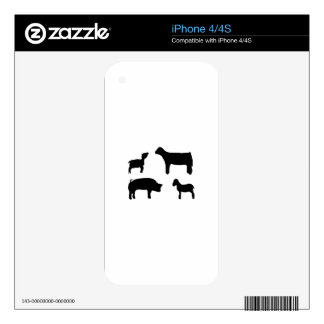 Farm Animals iPhone 4 Decals