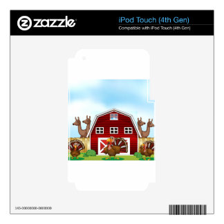 Farm animals iPod touch 4G decal