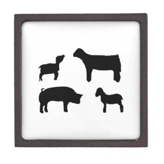 Farm Animals Keepsake Box