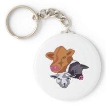 Farm Animals Keychain