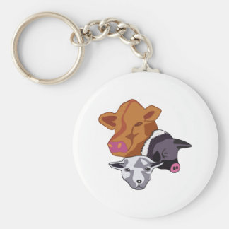 Farm Animals Keychain