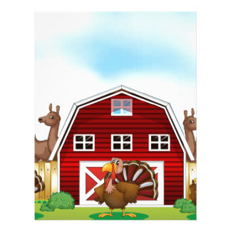 Farm animals letterhead
