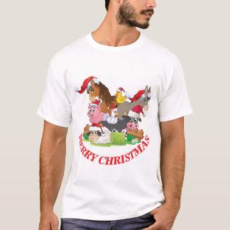 Farm Animals Merry Christmas CUSTOMIZE SENTIMENT T-Shirt