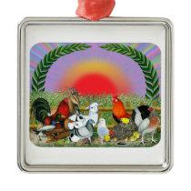 Farm Animals Metal Ornament