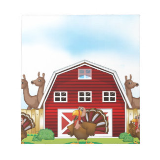 Farm animals note pad