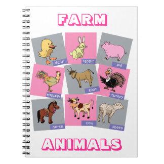 Farm Animals Notebook