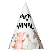 Farm Animals Party Hats