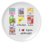 Farm Animals Party Plates