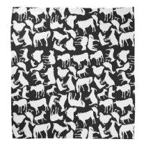 Farm Animals Pattern Bandana