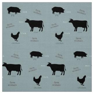 Farm Animals Pattern (Light) Fabric