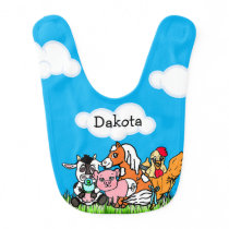 Farm Animals Personalized Baby Boy Baby Bib